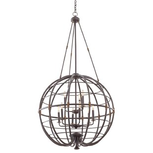 Kalco Larson 9-Light Globe Chandelier