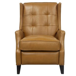 Michale Leather Manual Recliner Canora Grey