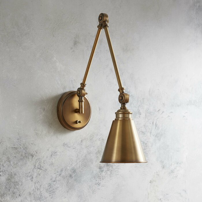 Home Decor Wall Sconce Waucoba 1-Light Swing Arm Lamp Home, Furniture & DIY Wall Lights