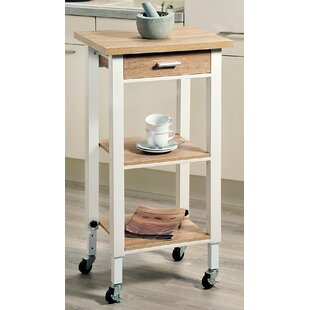 Tamar Kitchen Trolley With Manufactured Wood Top By Kesper