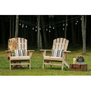 Millwood Pines Steadman Solid Wood Adirondack Chair (Set of 2)