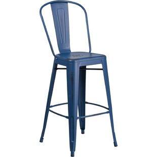 Ira Metal 30'' Patio Bar Stool