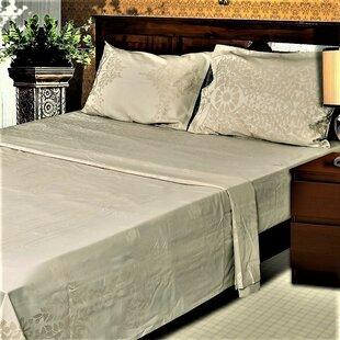 Red Barrel Studio Hylan Genuine Jacquard Damask 400 Thread Count 100% Cotton Sheet Set