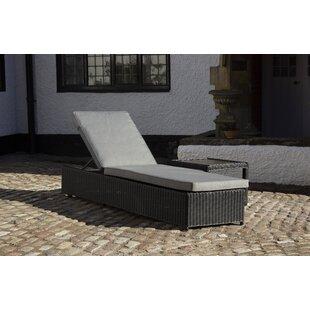 Kampyli Reclining Sun Lounger With Cushion Image