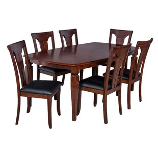 Victoria 7 Piece Solid Wood Dining Set by TTP Furnish