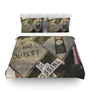 City Outing Urban Signs by Heidi Jennings Featherweight Duvet Cover By East Urban Home