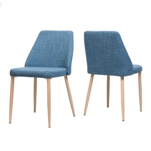 Brayden Studio Dodrill Mid Century Upholstered Dining Chair (Set of 2)