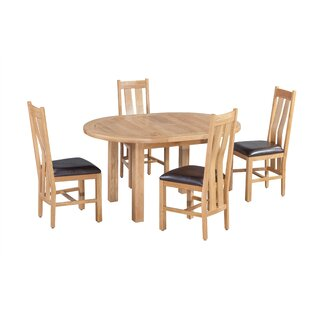 Ransom 5 Piece Extendable Solid Wood Dining Set