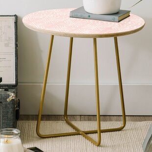 Dash and Ash Stars Above Round End Table by East Urban Home