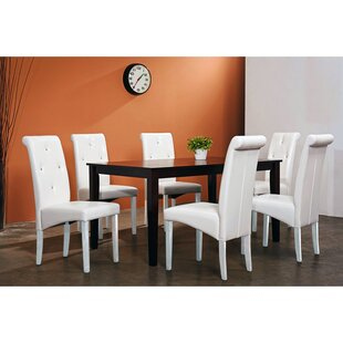 Rosette 7 Piece Solid Wood Dining Set