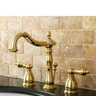 Kingston Brass Heritage Widespread Bathroom Faucet with Drain Assembly