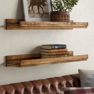Country Rustic 3 Tier Floating Box Shelves Brown Mounted Display Shelf