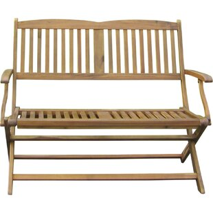 Harmond Wooden Garden Bench by August Grove