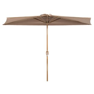 Charlton Home Hwang Patio Half 4.5' x 9' Rectangular Market Umbrella