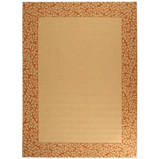 Barhill Tan / Red Indoor/Outdoor Area Rug