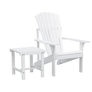 Mahler Patio Solid Wood Adirondack Chair