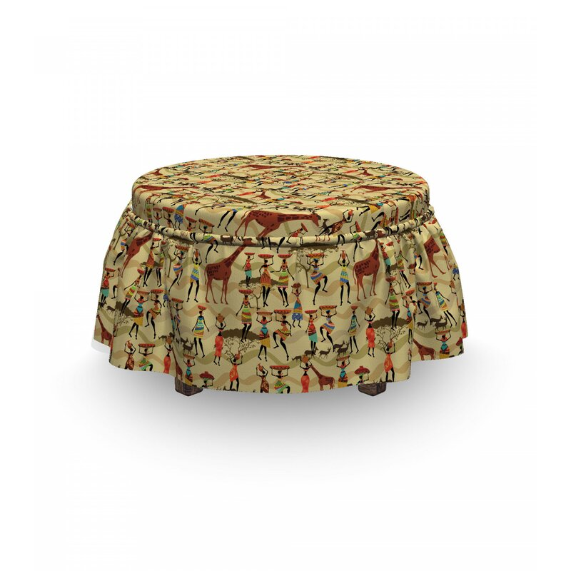 East Urban Home Ambesonne Africa Ottoman Cover Woman