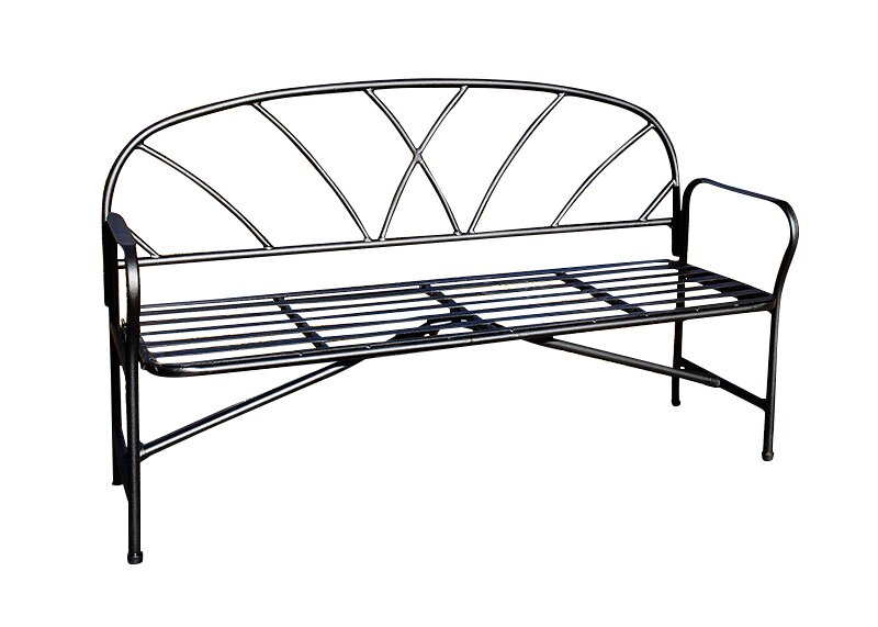 Find For Lattice Wrought Iron Garden Bench By Achla