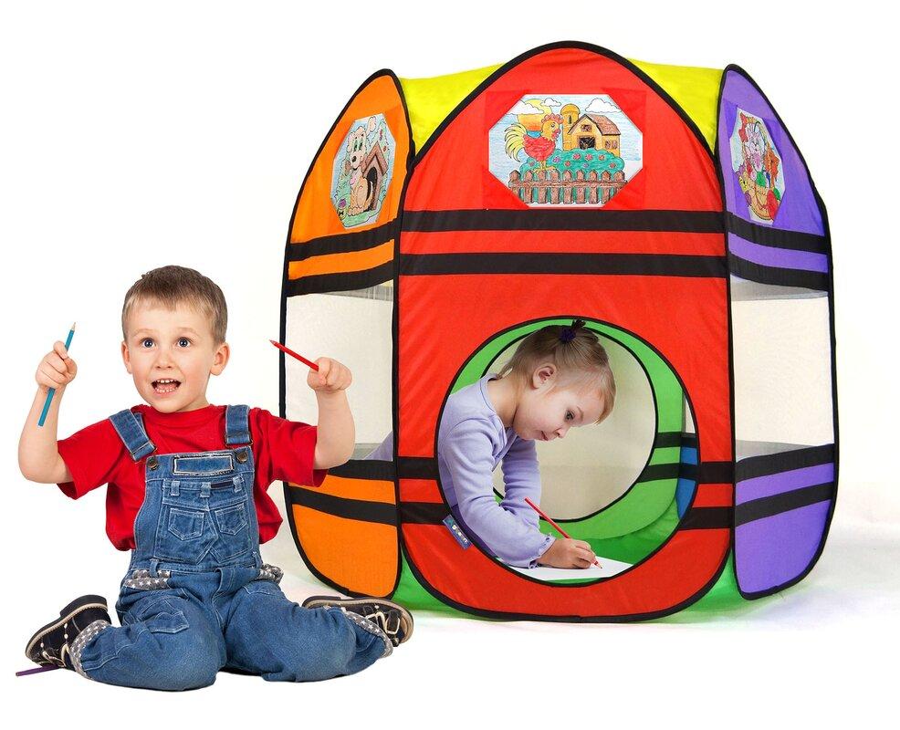 My First Artist Workshop Popup Play Tent  sc 1 st  Wayfair & GigaTent My First Artist Workshop Popup Play Tent u0026 Reviews | Wayfair