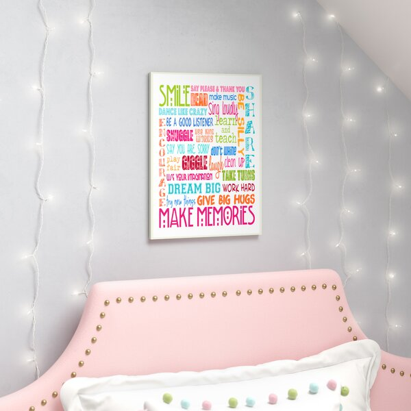 Seth Smile Make Memories Rainbow Typography Wall Plaque