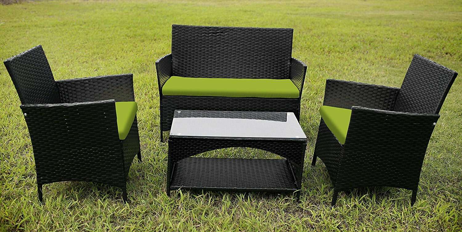 outdoor garden furniture 4 piece lounge seating group - Garden Furniture 4 All