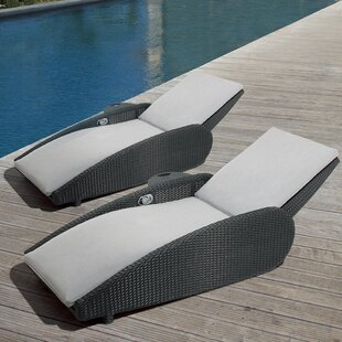 Ove Decors Sevilla Reclining Chaise Lounge Set with Cushion (Set of 2)