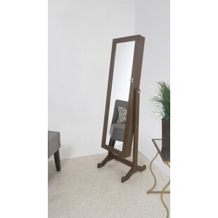 Inexpensive Stacy Free Standing Jewelry Armoire with Mirror By Winston Porter