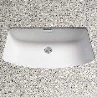 Toto Soiree Ceramic Rectangular Undermount Bathroom Sink with Overflow
