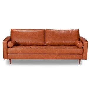 Modern Leather Sofas + Couches | AllModern