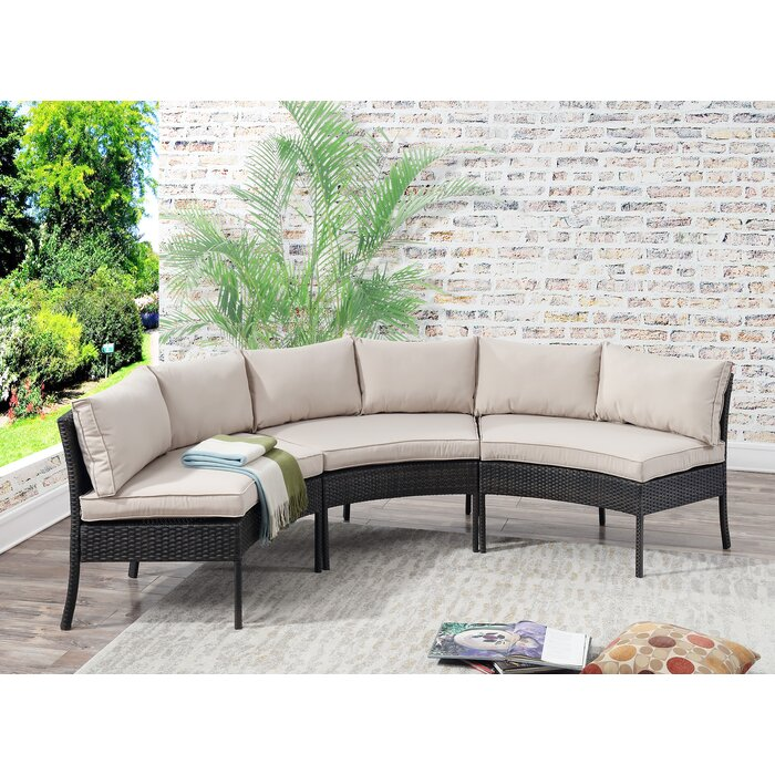 Purington Circular Patio Sectional with Cushions