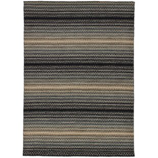 Searching for One-of-a-Kind Groom Hand-Knotted Wool Gray/Black Area Rug By Isabelline