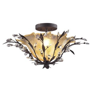 Whittingham 2-Light Semi Flush Mount by Willa Arlo Interiors