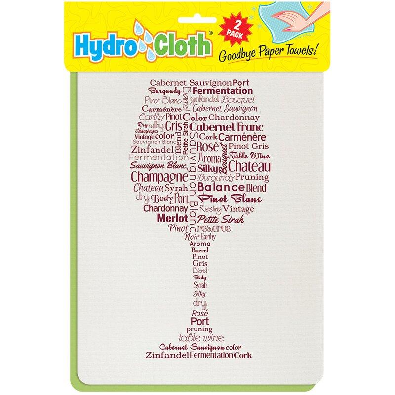 Latitude Run Wine Words Hydro Dish Cloth Wayfair