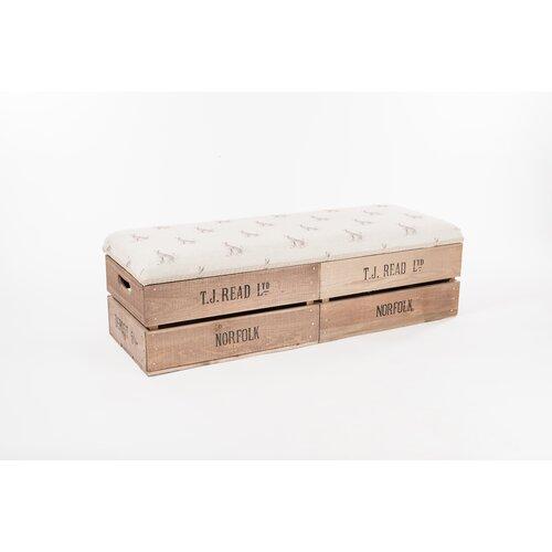 Apple Crate Wood Storage Bench Longshore Tides