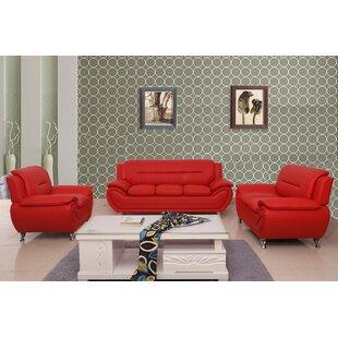 Segura 3 Piece Living Room Set by Orren Ellis