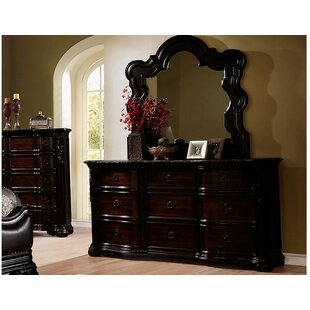 Mustafa 9 Drawer Dresser with Mirror