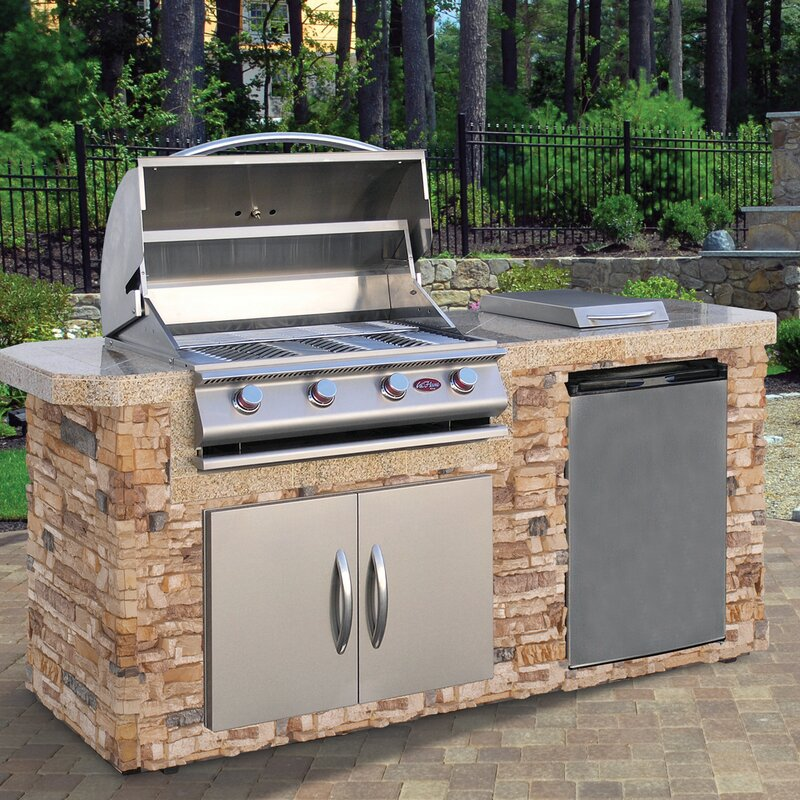 4-Burner Built-In Propane Gas Grill with Cabinet