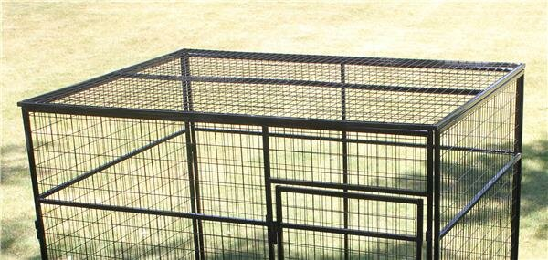 K9 Kennel Animal Enclosure with Welded Wire Top | Wayfair