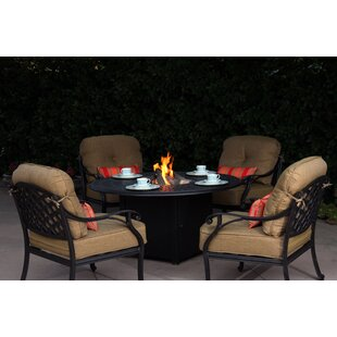 Find for Lincolnville 5 Piece Conversation Set with Cushions Best Price