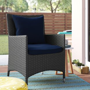 Tripp Patio Dining Chair With Cushion by Brayden Studio 2019 Sale