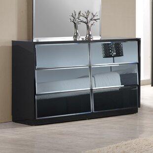 Orren Ellis Ashish 6 Drawer Double Dresser