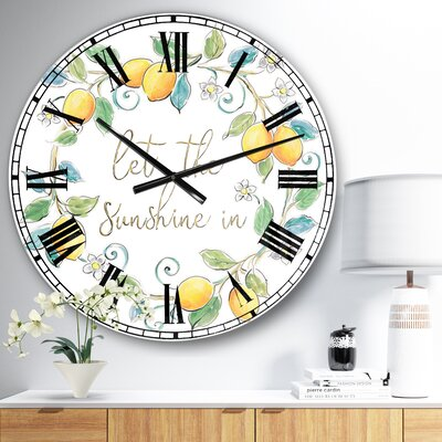 Oversized Mediterranean Breeze XII Wall Clock East Urban Home