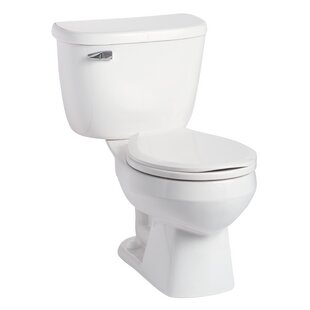 Mansfield Plumbing Products Quantum Pressure-Assist 1.6 GPF Round Two-Piece Toilet