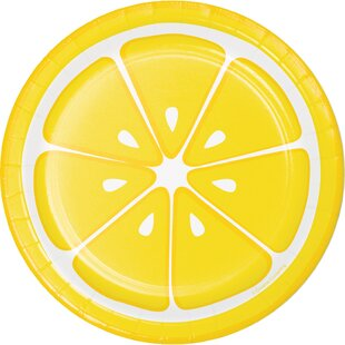 Summer Squeeze Lemonade Paper Appetizer Plate (Set of 24)