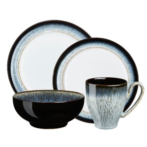 halo 4 piece place setting service for 1 - Modern Dinnerware