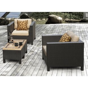 Byram 4 Piece Deep Seating Group with Cushion by Andover Mills