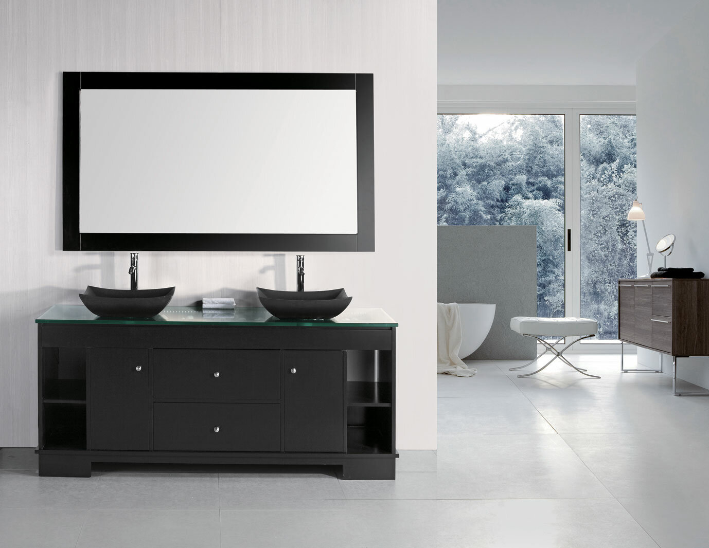 Dcor Design Penton 72 Double Bathroom Vanity Set With Mirror Reviews Wayfair