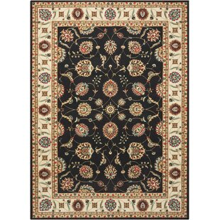 Top Reviews Botkins Black Area Rug By Three Posts