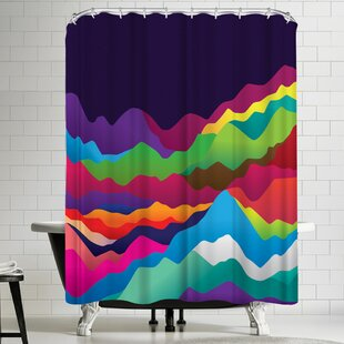 Joe Van Wetering Mountains of Sand Single Shower Curtain