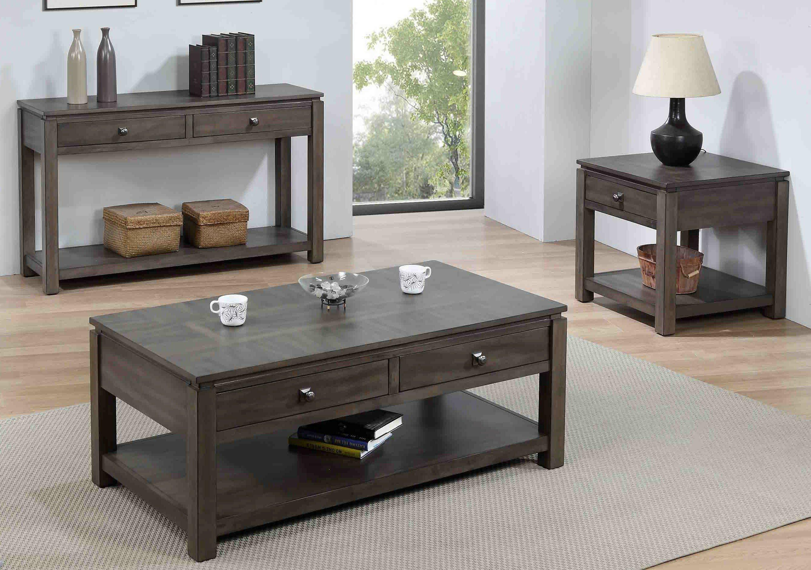 Greyleigh Moro 3 Piece Coffee Table Set